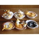 ねこ鍋 ポカポカ マスコット 全6種 ネコ猫 マグネット 特盛り 全6種 未開封 ミニブック付 1 並盛り(キーチ