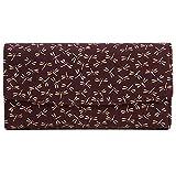 印傳屋(INDEN-YA) 印伝 かぶせ長財布(小銭入れ外側) 2310 とんぼ[紫×白]
