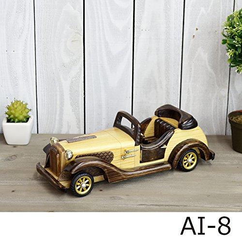 木製 ハンドメイド (AI‐8) クラシックカー 30cm×...