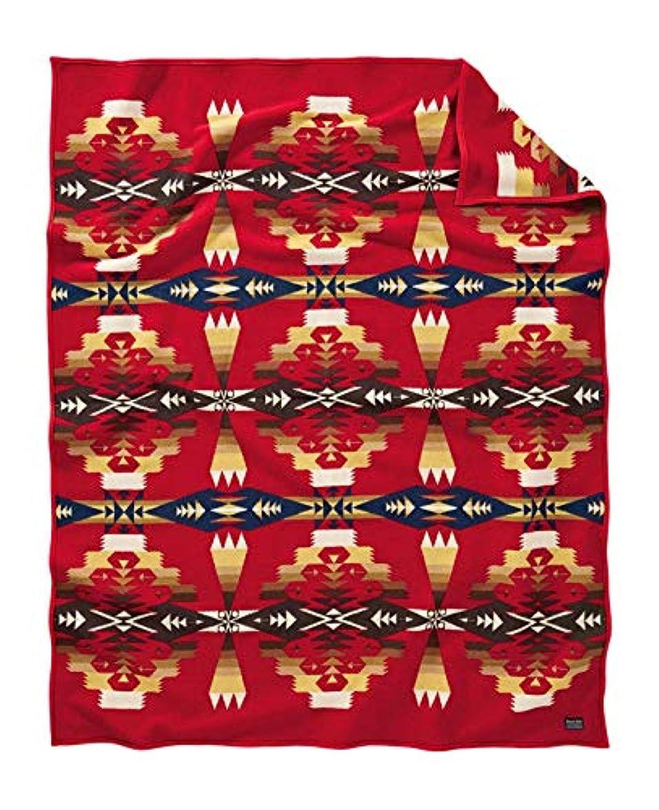 スリム刺繍子供時代Pendleton ウールミルズ ブランケットローブ ツーソンスカーレット