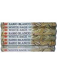Hemホワイトセージ100 Incense Sticks (5パックの20 Sticks)