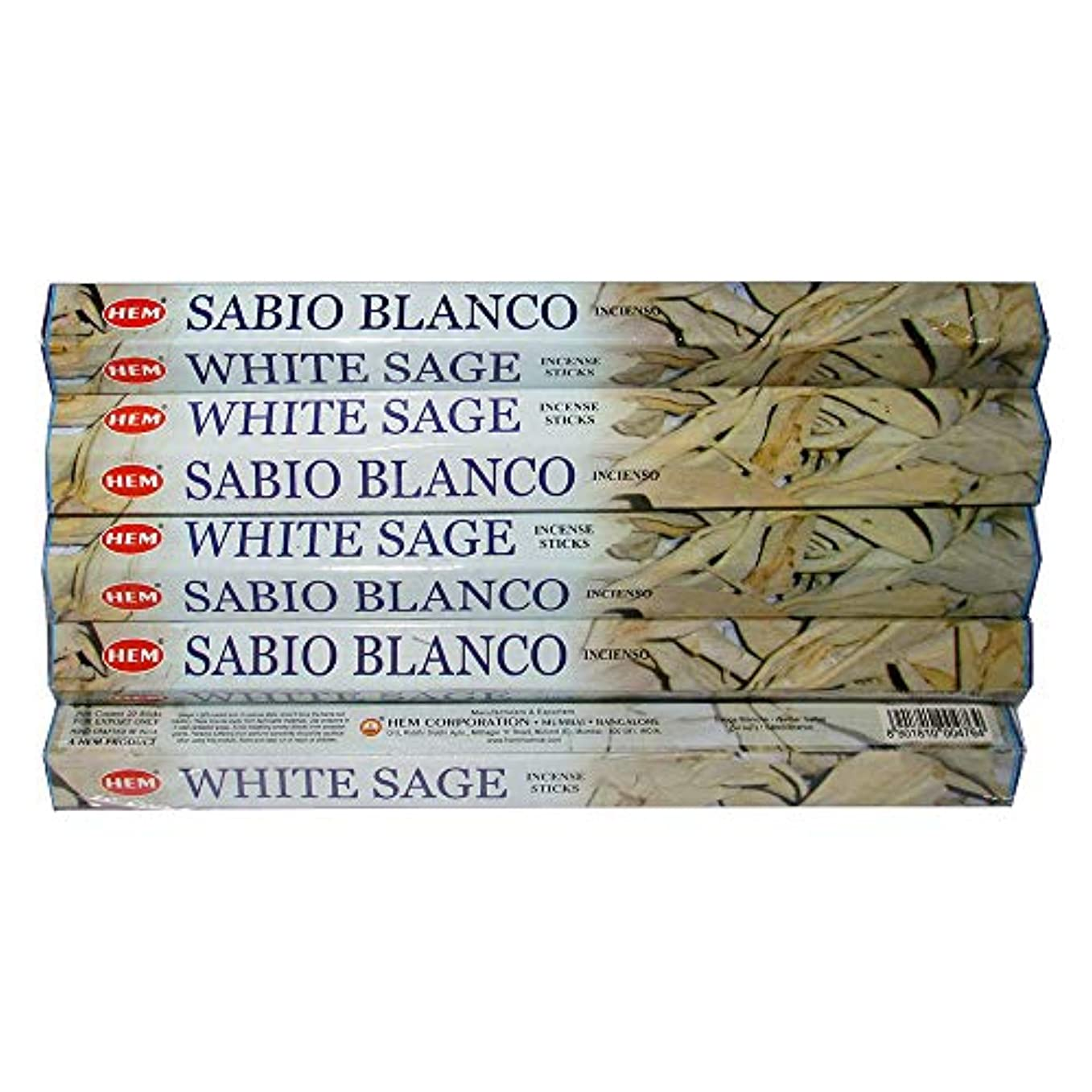 トロリーミサイルエンドウHemホワイトセージ100 Incense Sticks (5パックの20 Sticks)