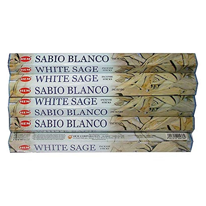 サバント起業家飾り羽Hemホワイトセージ100 Incense Sticks (5パックの20 Sticks)