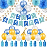 40 枚 誕生日 飾り付け 12 3 4 5歳 お誕生日 飾り 女の子 男の子 プレゼント 風船 happy birthday