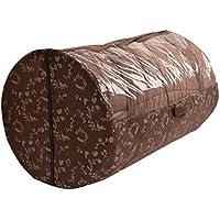 布団収納袋 透明窓付き ねこ柄 円筒型 布団袋 (掛け布団用)