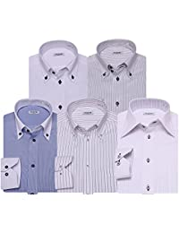 [アトリエサンロクゴ] ワイシャツ 長袖 5枚セット 形態安定 ボタンダウン レギュラー at-at101 メンズ