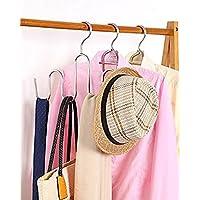 DOIOWN Multipurpose Stainless Steel Hangers Scarves Ties Belts Organiser Shoes Hanger Drying Rack (Set of 3)