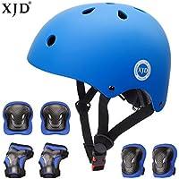 XJD 自転車 ヘルメット こども用 キッズプロテクターセット S:48~54cm 調節可能 超軽量 高剛性 通気性 高品質 自転車 サイクリング 保護用 巾着袋付き