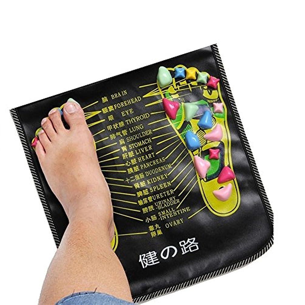 進むデンマーク肺bjduck92.7m Massager Mat Reflexology Walk Stone Pain Relieve Leg Health Care Pad