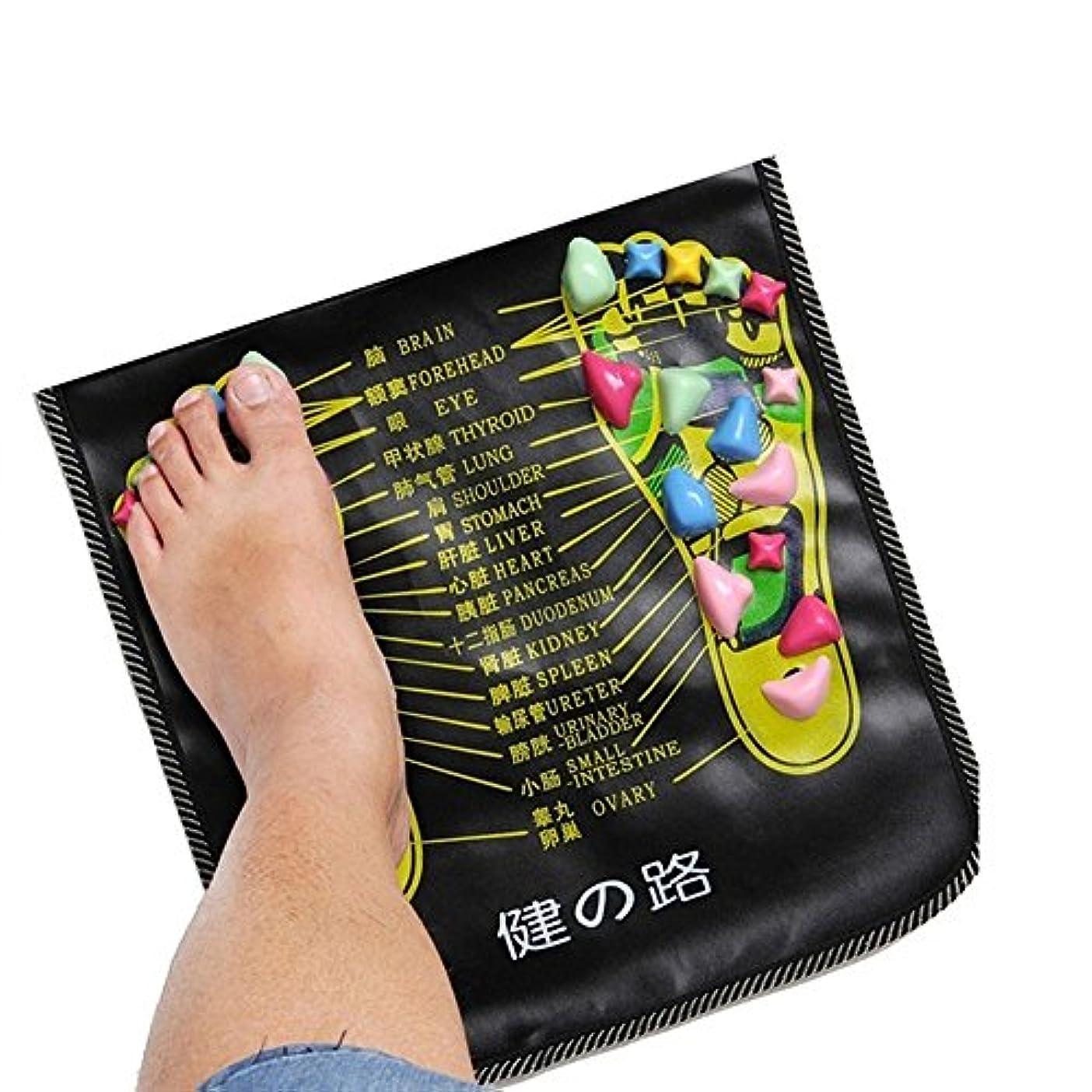 緯度紳士気取りの、きざなコンチネンタルbjduck92.7m Massager Mat Reflexology Walk Stone Pain Relieve Leg Health Care Pad
