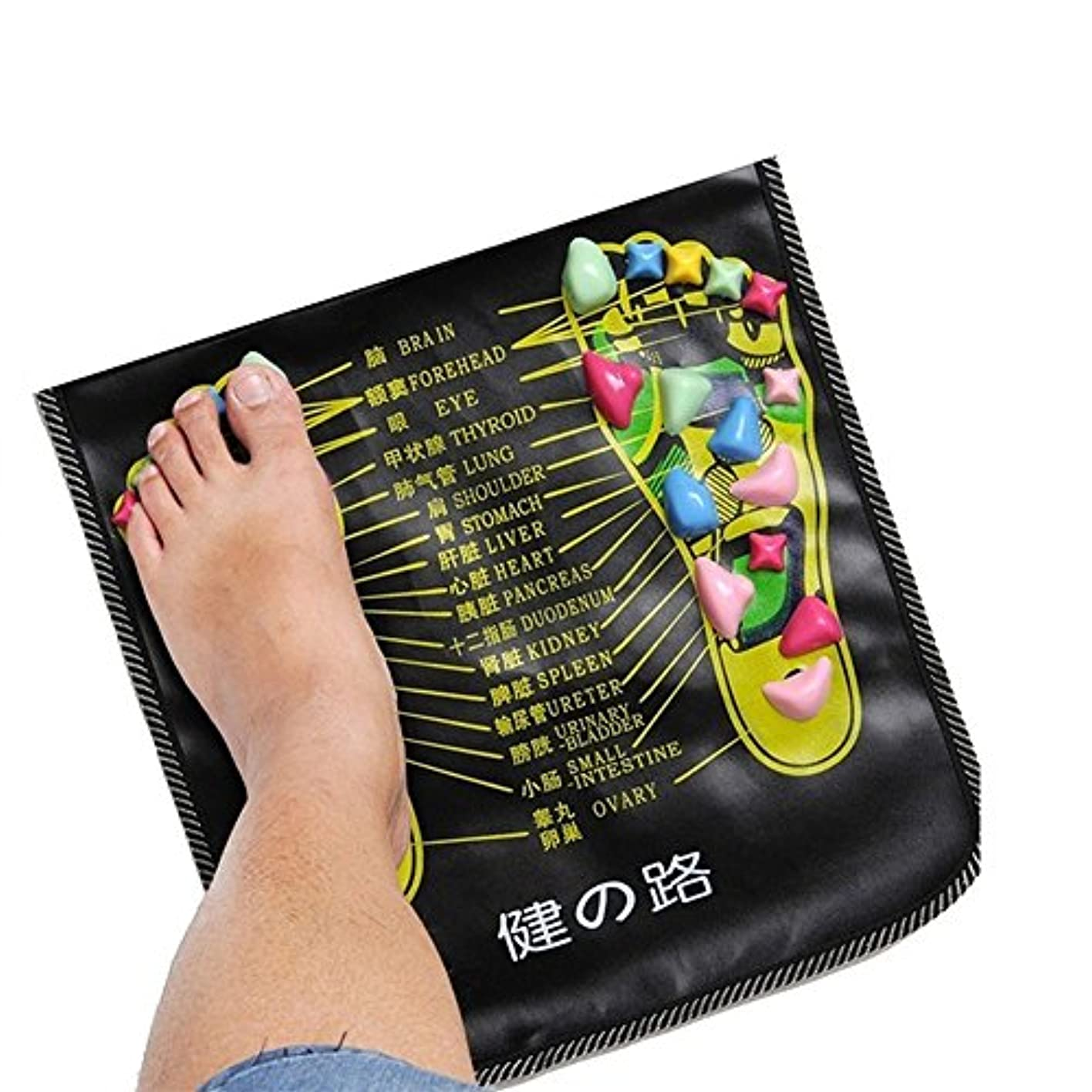 見落とす扱いやすいインポートbjduck92.7m Massager Mat Reflexology Walk Stone Pain Relieve Leg Health Care Pad