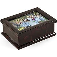 モダン4x 6写真フレームMusical Jewelry Box withフローラルモチーフ 102. Entertainer, The MBA-MB10-PF-FL