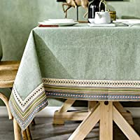 洗えるコットンとリネンのテーブルクロス、褪色防止としわ防止、長方形のテーブルカバー、キッチンのテーブルトップビュッフェの装飾に最適 (色 : D, Size : 110x170cm)