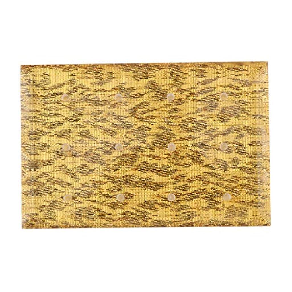カップコンサート残酷なInjoyo アクリル ネイルドリルビット 収納ケース ドリルビットホルダー 12穴 サロン ネイルメイクツール 全2色 - ゴールド
