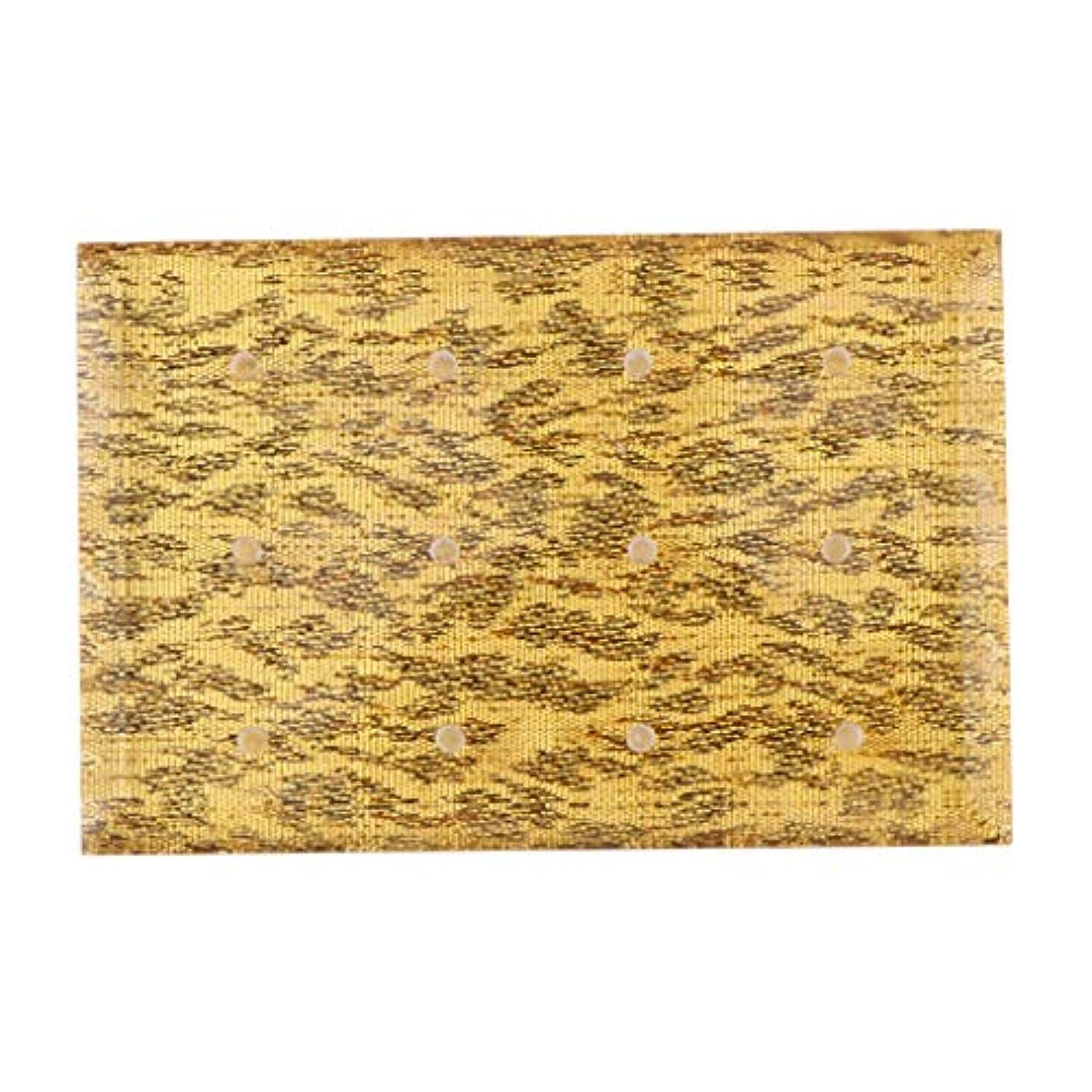 出版絶え間ない脚Injoyo アクリル ネイルドリルビット 収納ケース ドリルビットホルダー 12穴 サロン ネイルメイクツール 全2色 - ゴールド