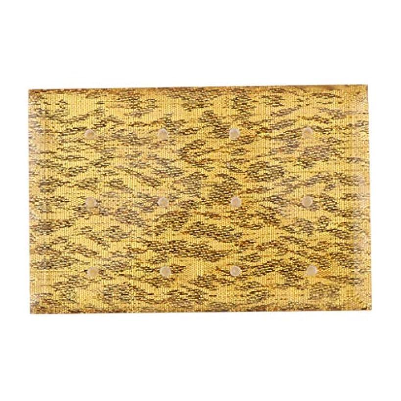 発生する臭い貨物Injoyo アクリル ネイルドリルビット 収納ケース ドリルビットホルダー 12穴 サロン ネイルメイクツール 全2色 - ゴールド