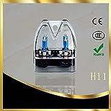BANDE(バンデ)ヘッドライト フォグランプ 高輝度H11 ハロゲンバルブ 12V55W (純正より90%照射範囲UP) エクセレント スーパーホワイト 2個入り