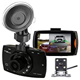 iCamecho デュアルカメラ 車載ドライブレコーダー Car DVR ダッシュカム フルHD1080P ビデオレコーダー バックアップカメラ ナイトビジョン