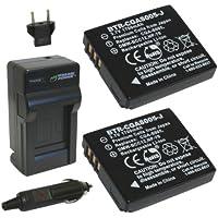 Wasabi Power バッテリー2ケ+充電キット 並行輸入品 Leicaライカ BP-DC4, C-Lux 1, D-Lux 2, D-Lux 3, D-Lux 4 Ricoh リコー Caplio DB-60, GX100, GX200, R3, R4, R5, R30, R40, G600, GR Digital, GR Digital II, GR Digital III Panasonic Lumix CGA-S005, CGA-S005A, CGA-S005A/1B, CGA-S005E, DMW-BCC12 and Panasonic Lumix DMC-FS1, DMC-FS2, DMC-FX01, DMC-FX07, DMC-FX1, DMC-FX3, DMC-FX7, DMC-FX8, DMC-FX9, DMC-FX10, DMC-FX12, DMC-FX50, DMC-FX100, DMC-FX150, DMC-FX180, DMC-LX1, DMC-LX2, DMC-LX3