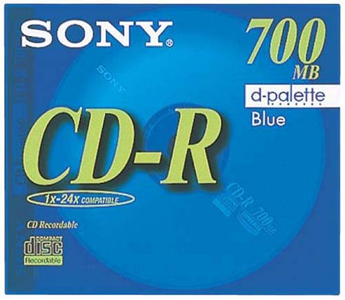 SONY 日本製 データ用CD-R 700MB 48倍速 ブルー 単品 CDQ80EL