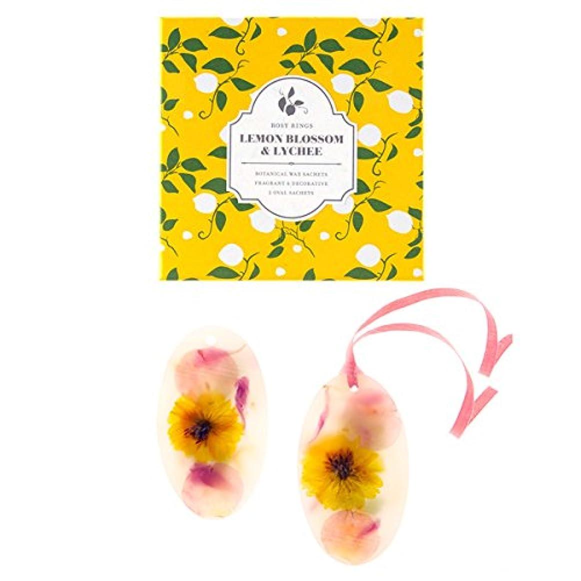 スキャンダル胸アッパーロージーリングス ボタニカルワックスサシェ オーバル レモンブロッサム&ライチ ROSY RINGS Signature Collection Botanical Wax Sachets – Lemon Blossom & Lychee