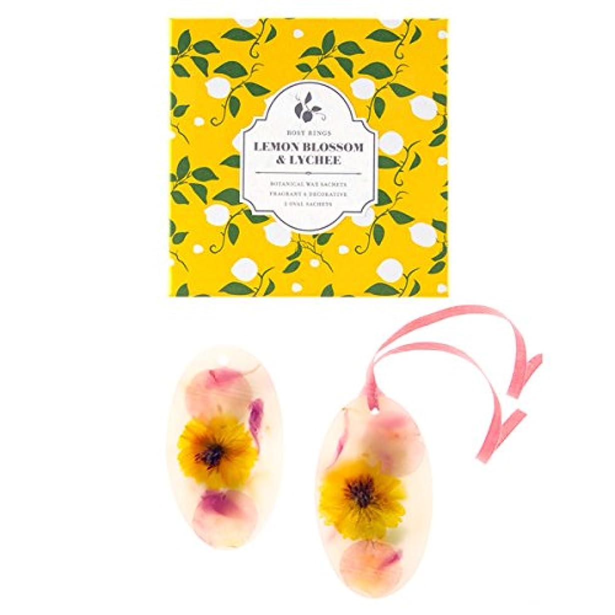 ラフ睡眠バージンマスタードロージーリングス ボタニカルワックスサシェ オーバル レモンブロッサム&ライチ ROSY RINGS Signature Collection Botanical Wax Sachets – Lemon Blossom...