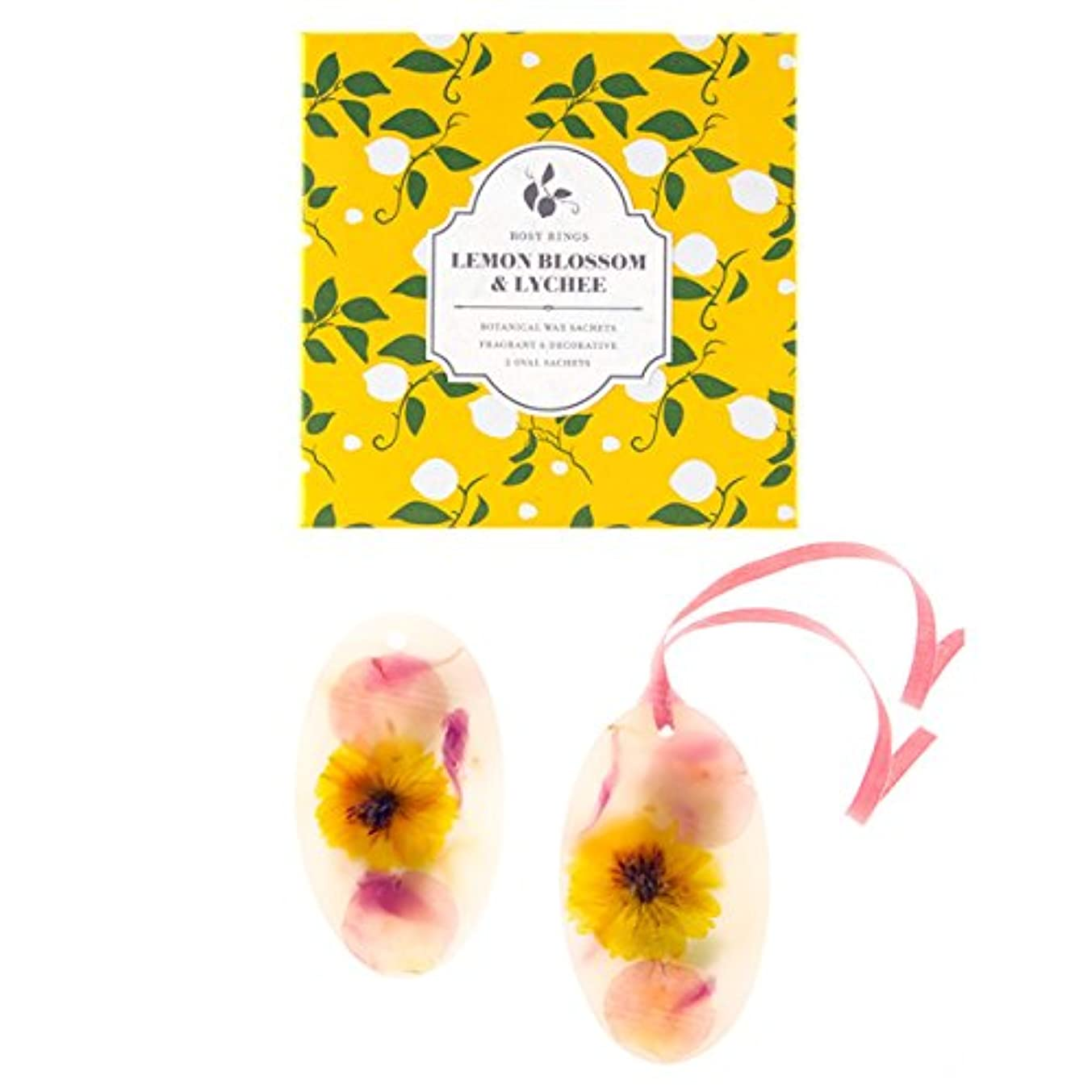 無臭ラジウムワンダーロージーリングス ボタニカルワックスサシェ オーバル レモンブロッサム&ライチ ROSY RINGS Signature Collection Botanical Wax Sachets – Lemon Blossom...