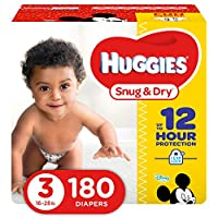 Huggies Snug and Dry Diapers, Size 3, 180 Count by Huggies