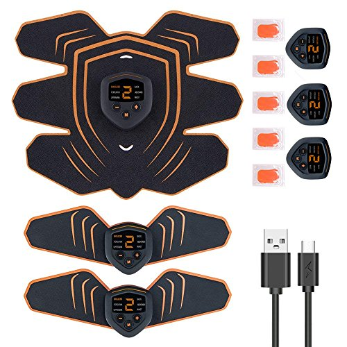EMS 腹筋ベルト 筋力トレーニング 男女兼用 USB充電式 筋肉トナー ダイエット器具 静音 自動的 液晶画面 LEDライト 6種類モード 10段階強度 ボディフィット 腹筋器具 EMS腹筋ベルト お腹 腕部 太ももエクササイズ用