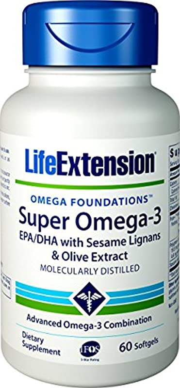 ゴージャス発表する大宇宙SUPER OMEGA-3 EPA/DHA W/SESAME LIGANS & OLIVE EXTRACT 60 SOFTGELS