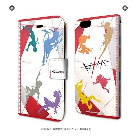 キズナイーバー 01 シルエットデザイン 手帳型スマホケース iPhone6/6s/7/8兼用