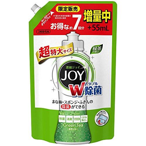 除菌ジョイコンパクト JOY 緑茶の香り 詰め替え 超特大増量 1120ml 1個 食器用洗剤 P&G