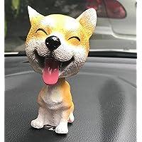 幼児期のゲーム シミュレーション犬の車の装飾かわいい犬の頭を振ってドールの車の装飾品(芝)