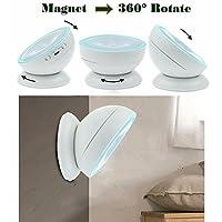 360度回転モーションセンサーライト、DOLIDAコードレス充電式LED夜間ライトセーフライトスティックどこでも授乳ライトwith Detachable用磁気、廊下、バスルームベッドルームキッチン LEDnightlight01warm