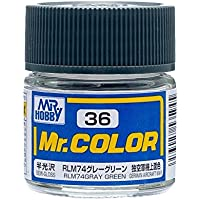 【溶剤系アクリル樹脂塗料】Mr.カラー C36 RLM74グレーグリーン