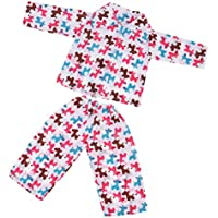 ノーブランド品  かわいい パジャマ  寝間着  服装  18インチアメリカンガールドール用 5種類選べる - 02