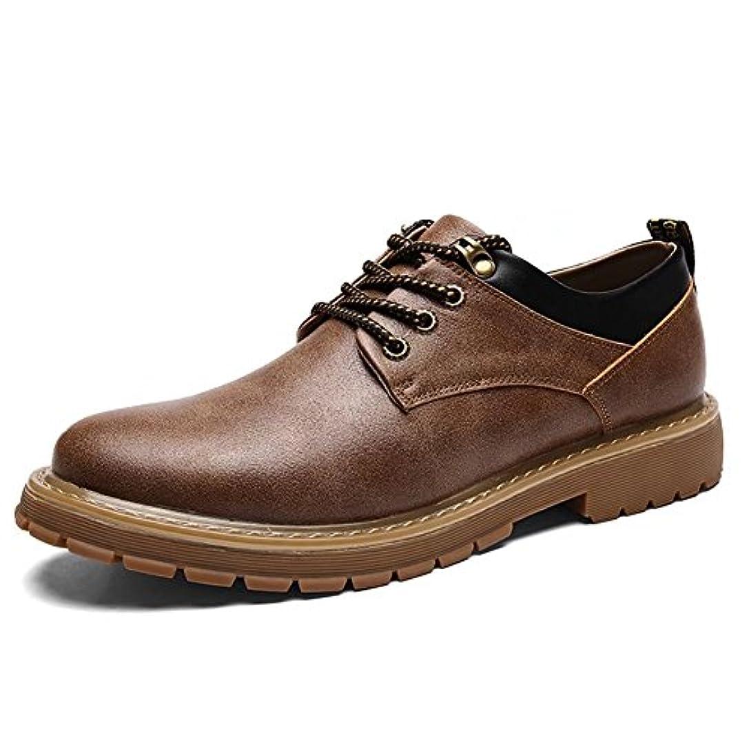 サイトライン筋所有権Fengbao ブーツ 靴 メンズ 手作り フラットブーツ 本革 レースアップ カジュアル 革靴 ワーク
