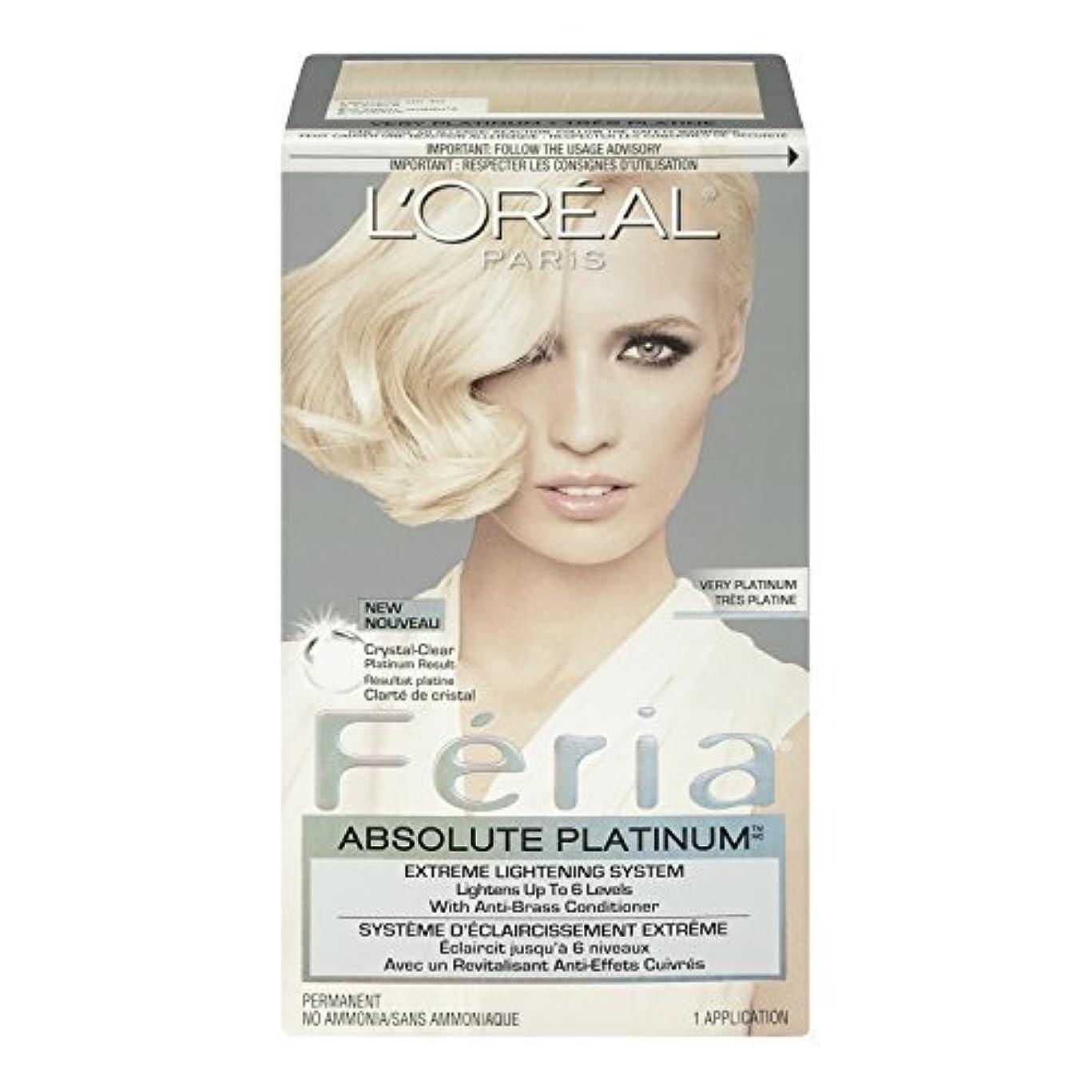 クロスシーン理容師L'Oreal Feria Absolute Platinums Hair Color, Very Platinum by L'Oreal Paris Hair Color [並行輸入品]