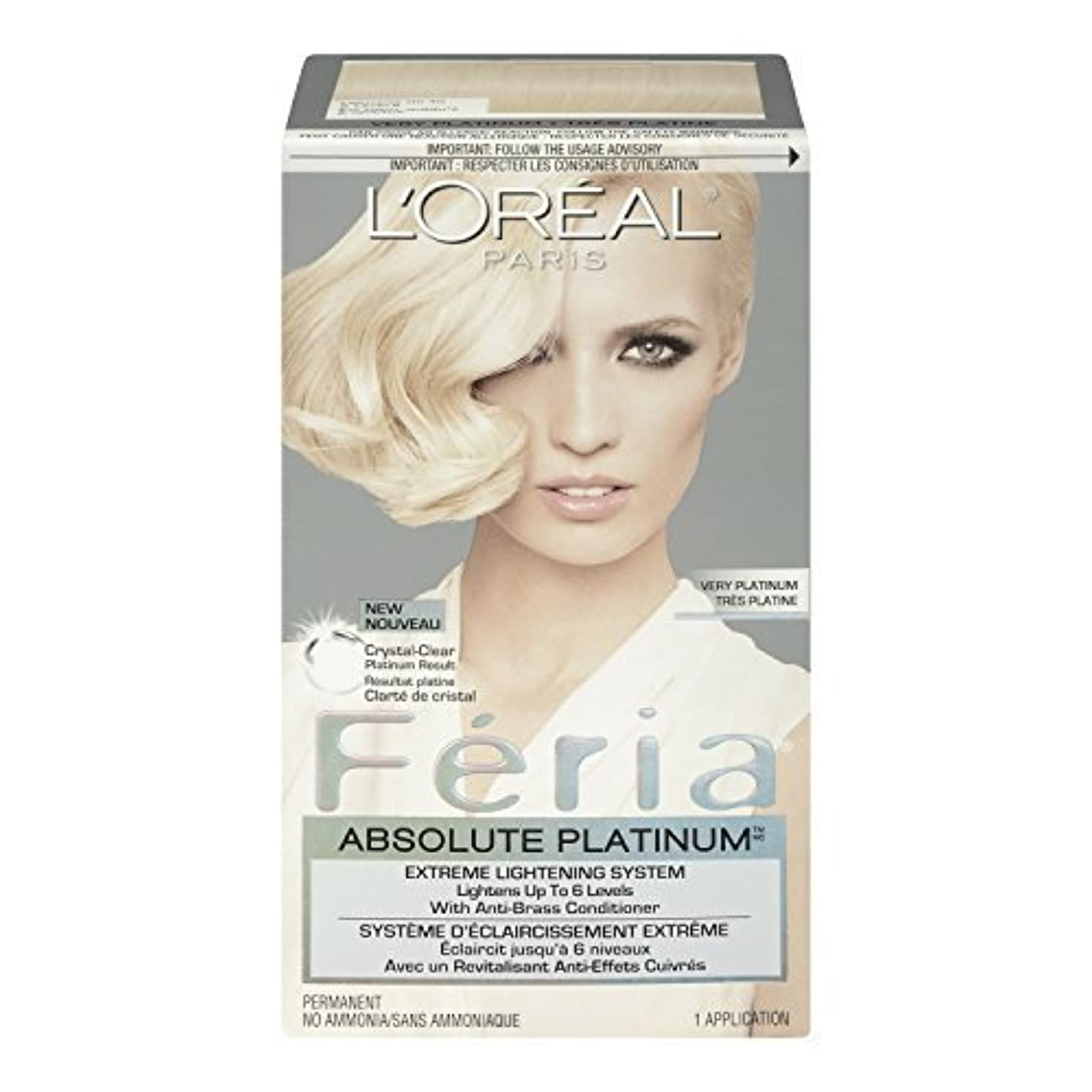 割り当てる種類夜明けL'Oreal Feria Absolute Platinums Hair Color, Very Platinum by L'Oreal Paris Hair Color [並行輸入品]