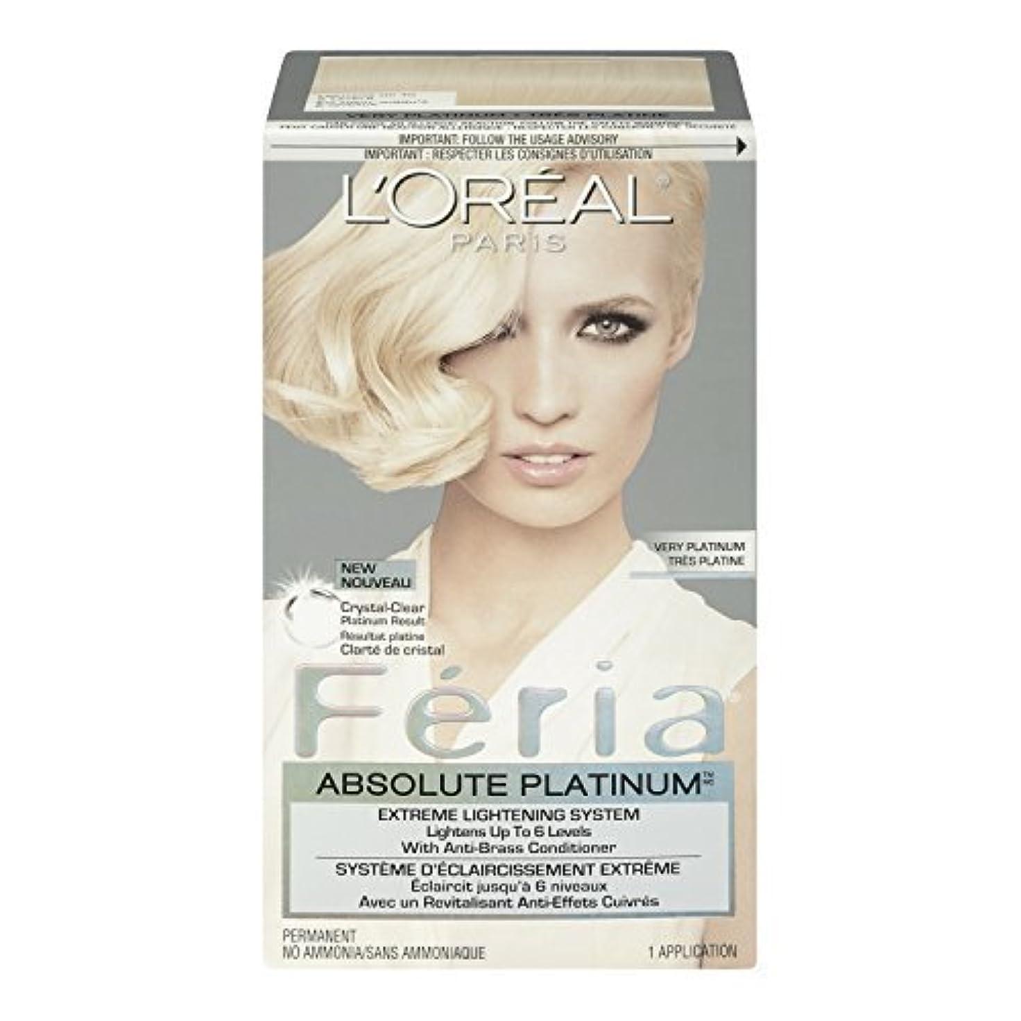 ガム沿って暗黙L'Oreal Feria Absolute Platinums Hair Color, Very Platinum by L'Oreal Paris Hair Color [並行輸入品]