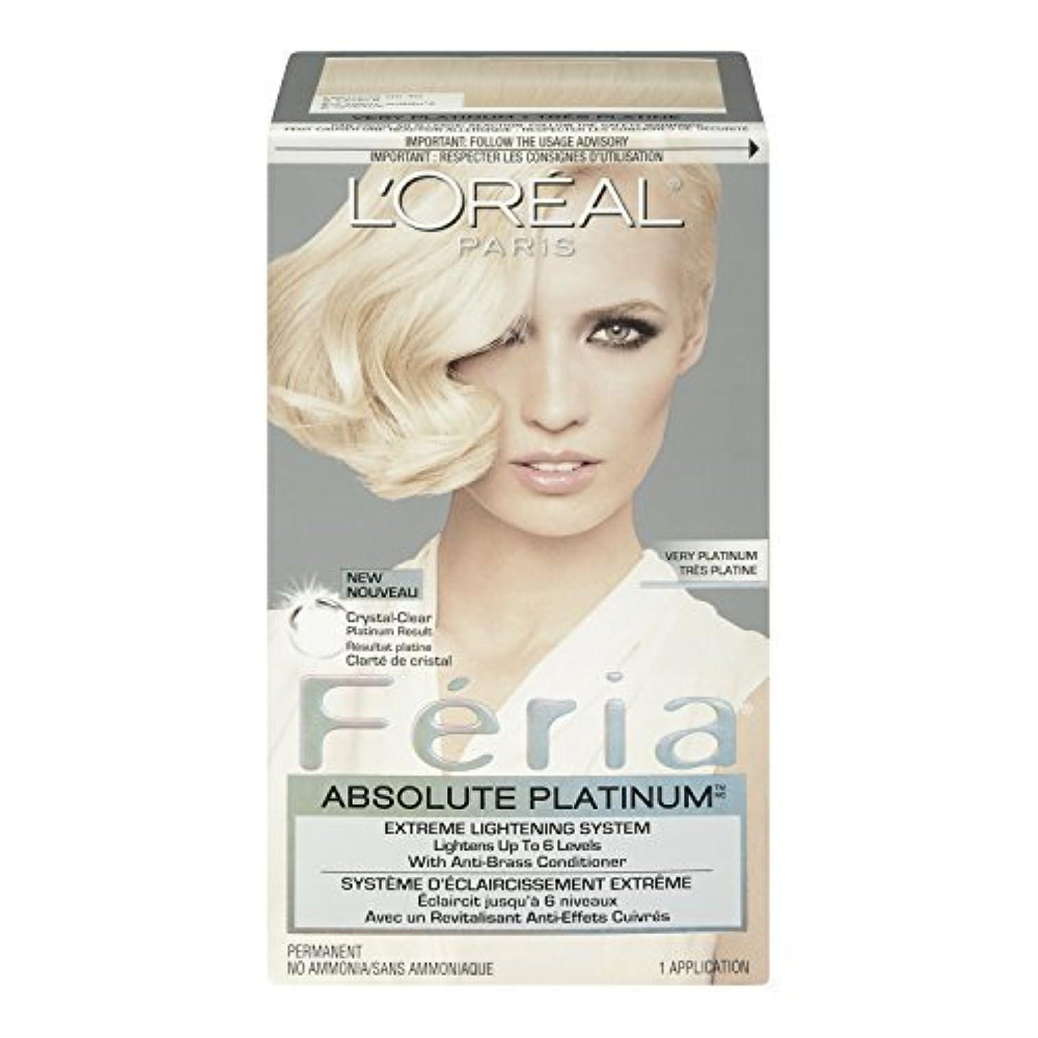 ブラジャー窓圧倒するL'Oreal Feria Absolute Platinums Hair Color, Very Platinum by L'Oreal Paris Hair Color [並行輸入品]