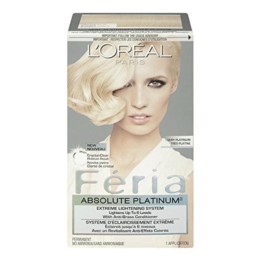 厳密にバスタブ地獄L'Oreal Feria Absolute Platinums Hair Color, Very Platinum by L'Oreal Paris Hair Color [並行輸入品]