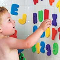 36pcs Children Bath Tub Foam Letters Numbers Educational Baby Early Learn Water Shower Toy Sets by NEW BORN NEW HOPE