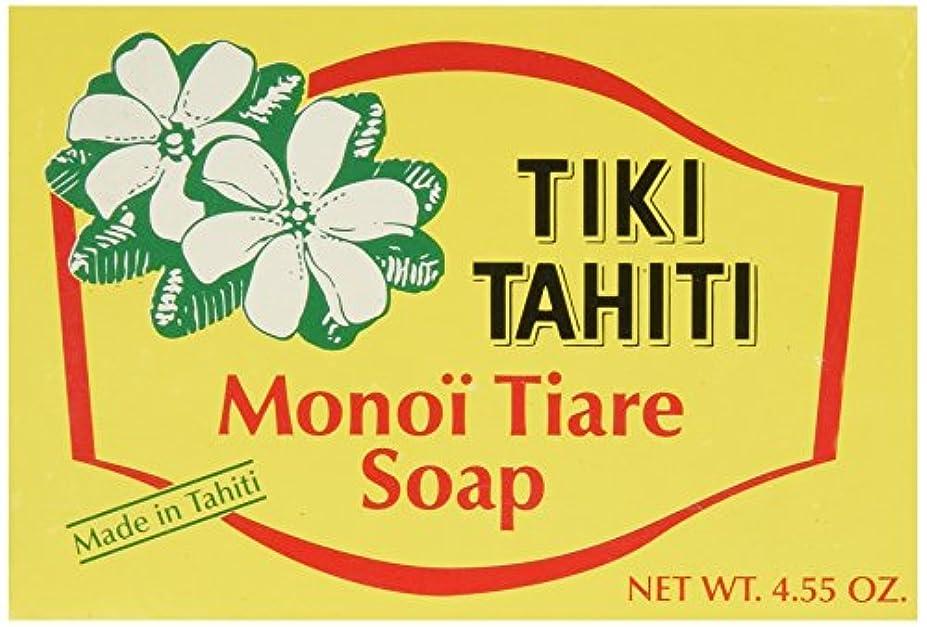 の頭の上箱ストライプMonoi Tiare Tahiti, Coconut Oil Soap, Tiare (Gardenia) Scented, 4.55 oz (130 g)