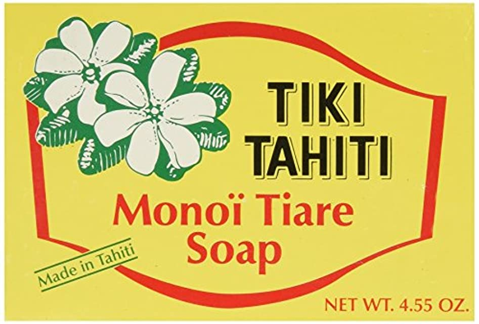 脊椎ポゴスティックジャンプ大混乱Monoi Tiare Tahiti, Coconut Oil Soap, Tiare (Gardenia) Scented, 4.55 oz (130 g)