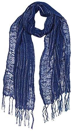 草木染め 藍染 綿100% 日本製 薄手 ショール ストール 縞