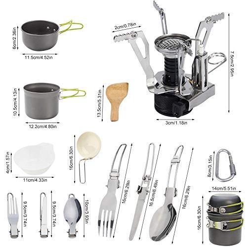 キャンプクッカー キャンピング鍋 キャンプ用 調理器具 超軽量 調理セット ...