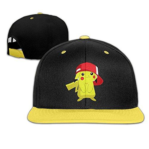 Pikachu Pokemon Goカスタムユニセックス子供ヒップホップ帽子コットンスタイリッシュ