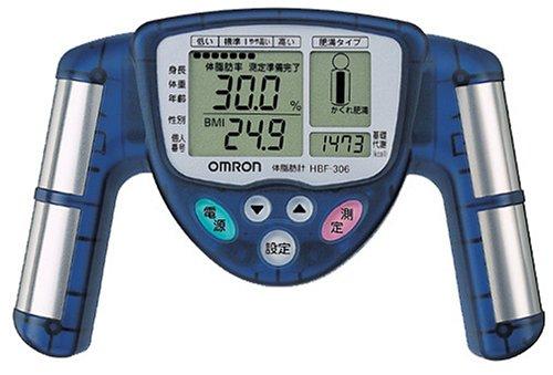 オムロン 体脂肪計 ブルー HBF-306-A...
