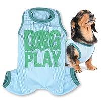 犬猫の服 full of vigor ドッグプレイ(R)メッシュつなぎ ダックス用 カラー 7 ブルー サイズ DSS Tシャツ ロンパース オールインワン フルオブビガー
